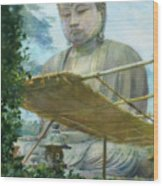 The Great Statue Of Amida Buddha At Kamakura Wood Print
