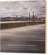 The Great Stone Dam Lawrence, Massachusetts Wood Print