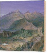 The Great Wall Of China Wood Print by William Simpson