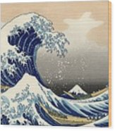 The Great Wave Off Kanagawa Wood Print