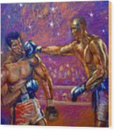 the Greatest  Muhammed Ali vs Jack Johnson Wood Print