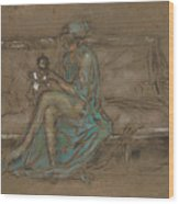 The Green Cap Wood Print