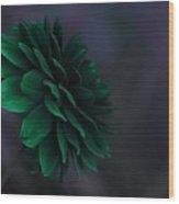 The Green Flower 2 Wood Print