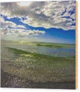 The Green Sea Wood Print