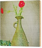 The Green Vase Wood Print