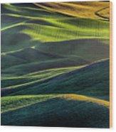 The Green Waves Of Palouse Wa Dsc05032  Wood Print