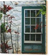 The Green Window Wood Print