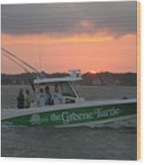 The Greene Turtle Power Boat Wood Print