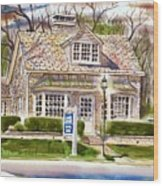 The Greystone Inn In Brigadoon Wood Print