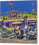 The Grill House Wood Print
