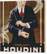 The Grim Game, Harry Houdini, 1919 Wood Print by Everett