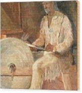 The Grinder Wood Print