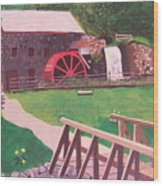 The Gristmill At Wayside Inn Wood Print by William Demboski