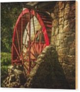 The Gristmill's Waterwheel Wood Print