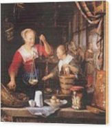 The Grocery Shop 1672 Wood Print
