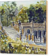 The Grotto Steps Wood Print