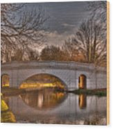 The Grove Bridge On The Grand Union Canal  Wood Print