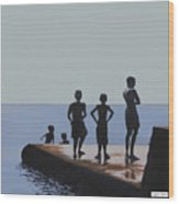 The Groyne - Stand And Stare Wood Print
