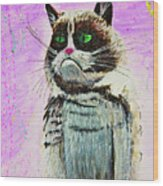 The Grumpy Cat From The Internets Wood Print