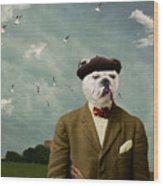 The Grumpy Man Wood Print by Martine Roch