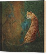 The Guard At The Temple Wood Print