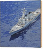 the guided-missile destroyer USS Okane Wood Print