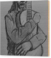 The Guitarist Wood Print