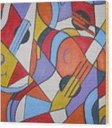 The Guitars Wood Print by Brandi  Hickman