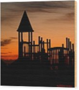 The Gulf Graveyard Wood Print