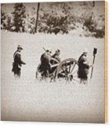 The Guns Of Gettysburg Wood Print