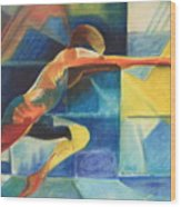 The Gymnast  Wood Print