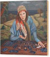 The Gypsy Fortune Teller Wood Print by Enzie Shahmiri