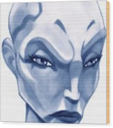The Hairless Harpy Aka Asajj Ventress Wood Print