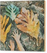 The Hands 2 Wood Print