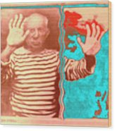 The Hands Of Picasso Wood Print