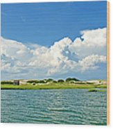 The Handys Camp On Sandy Neck Wood Print