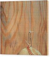 The Hanging Baseball Wood Print