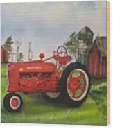 The Hansen Tractor Wood Print