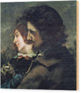 The Happy Lovers Wood Print by Gustave Courbet