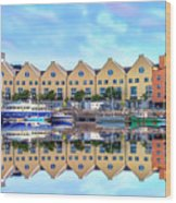 The Harbor At Galway Wood Print