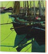 The Harbor Wood Print