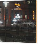 The Hard Rock At The Inner Harbor Wood Print