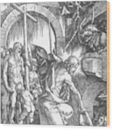 The Harrowing Of Hell Or Christ In Limbo From The Large Passion 1510 Wood Print