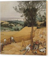 The Harvesters By Pieter Bruegel The Elder                             Wood Print