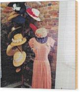The Hat Rack Wood Print