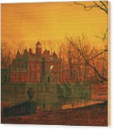 The Haunted House Wood Print