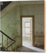 The Haunted Staircase - Abandoned Building Wood Print