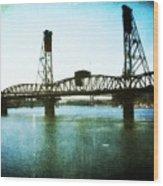 The Hawthorne Bridge Wood Print