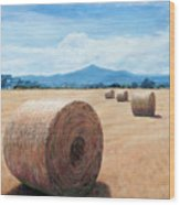 The Haystack Wood Print