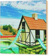 The Hazmat Water Park Wood Print